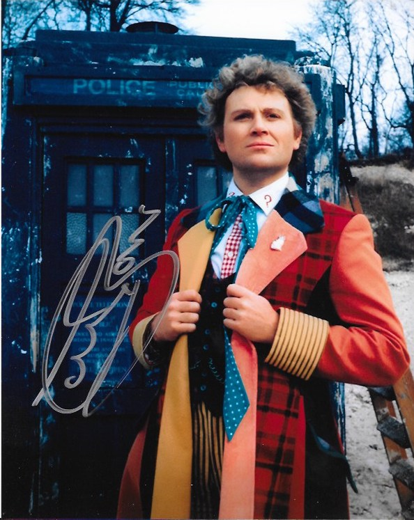Colin Baker SIgned Dr Who 10x8