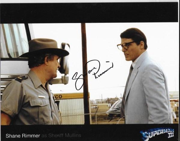 Shane Rimmer Signed Superman 3 10x8