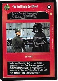 Dave Prowse Signed We Shall Double Our Efforts CCG Card