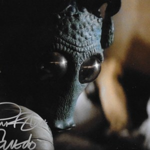 Paul Blake Signed Greedo 10x8