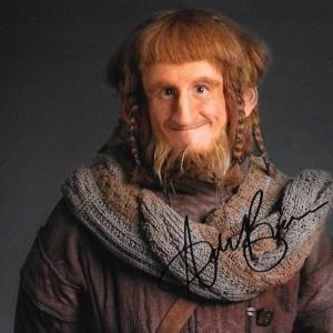 Adam Brown Signed Ori The Hobbit 10x8