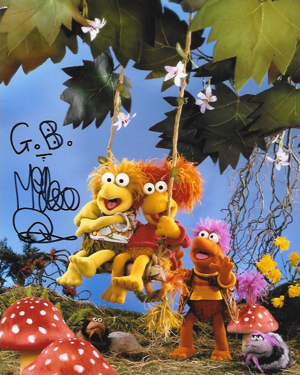 Mike Quinn Signed Muppets 10x8
