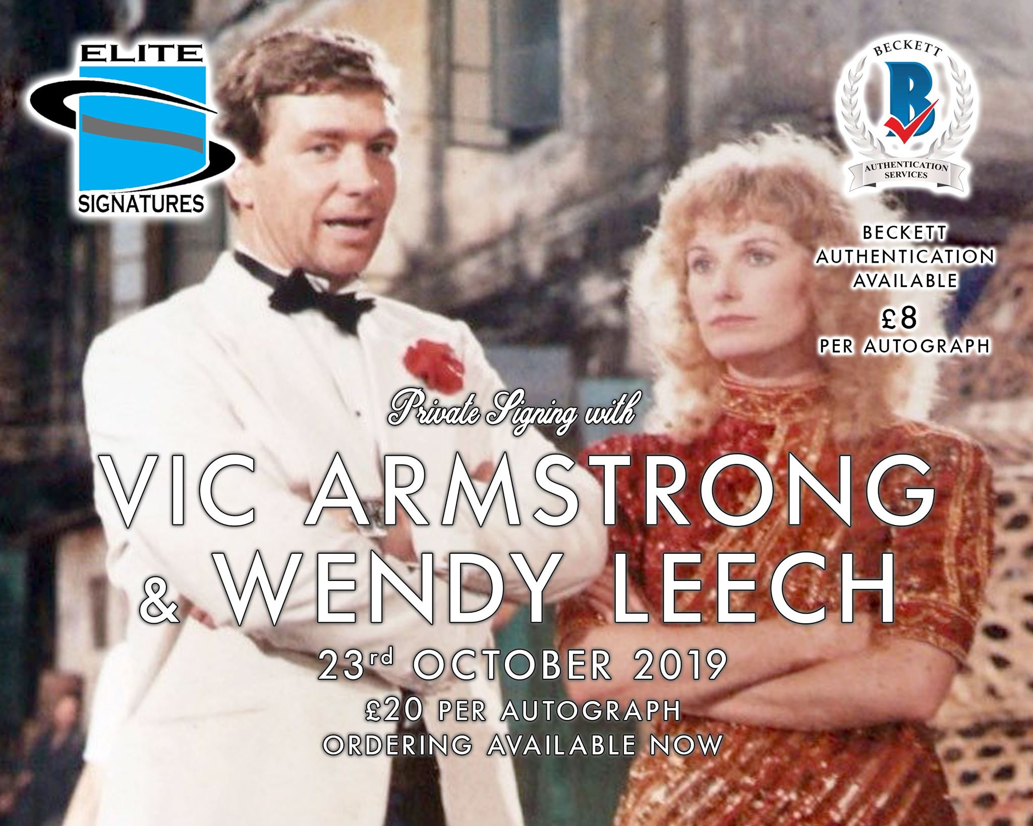 Vic Armstrong & Wendy Leech Signing Now Live
