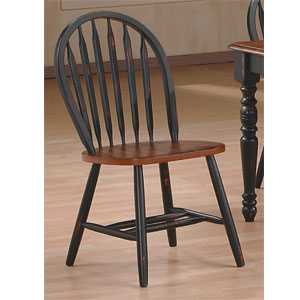 Dining Chairs Antique Black Cherry Arrow Back Chair 9514 WD