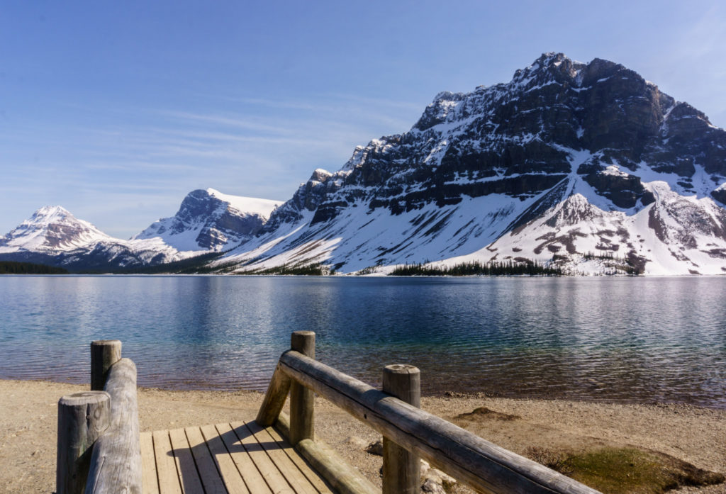 Bow lake hike
