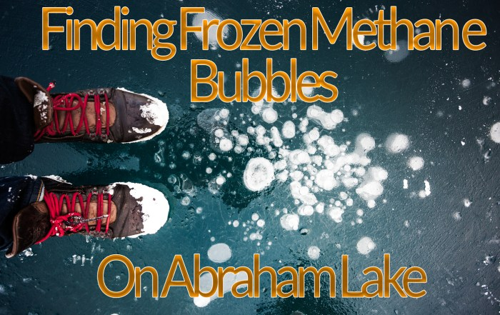 Finding frozen bubbles on Abraham Lake
