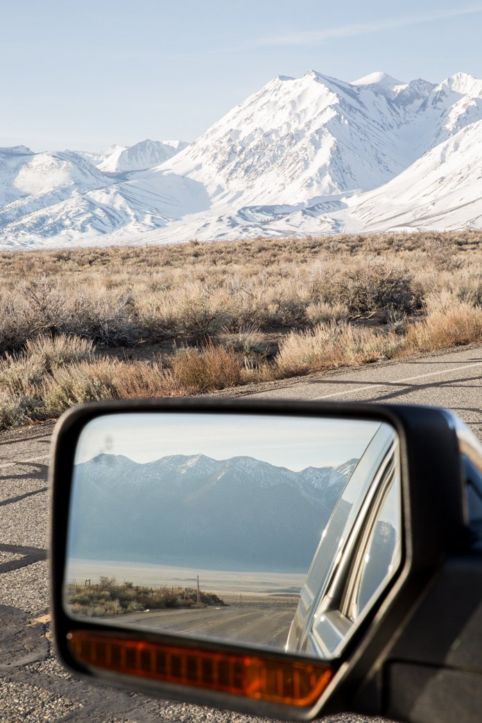 view of Eastern Sierras california