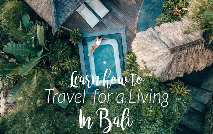 Learn how to travel for a living in Bali