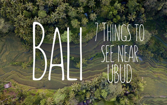 seven things to do in Ubud Bali