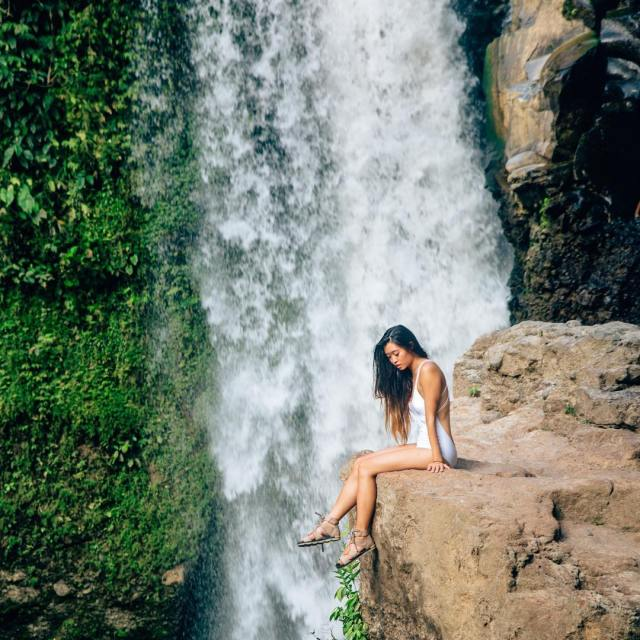 we got to this waterfall a little worried because therehellip