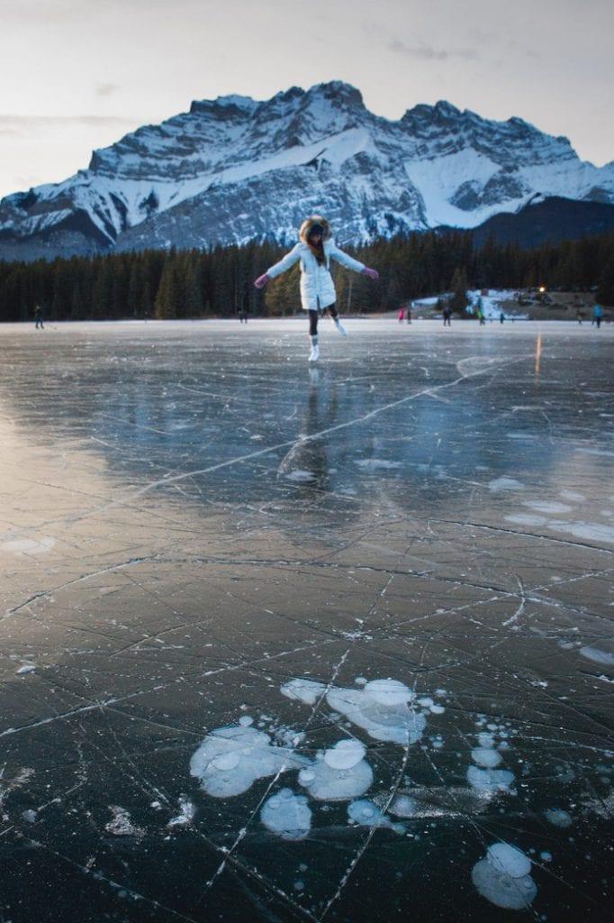 Ice Skating on Two Jack Lake