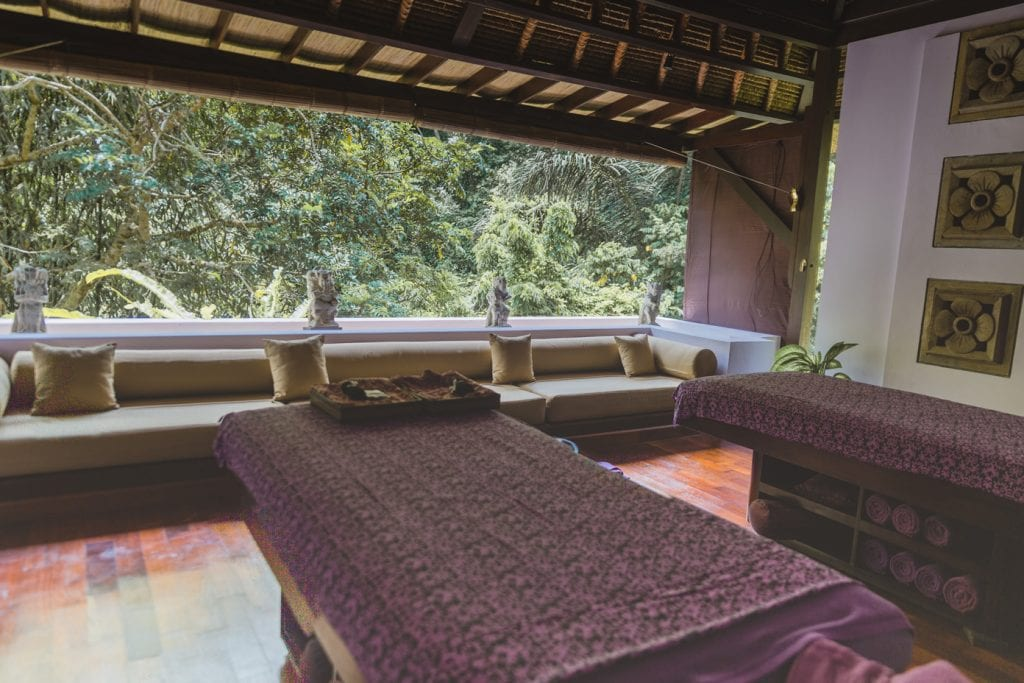 the spa at the hanging Gardens Bali