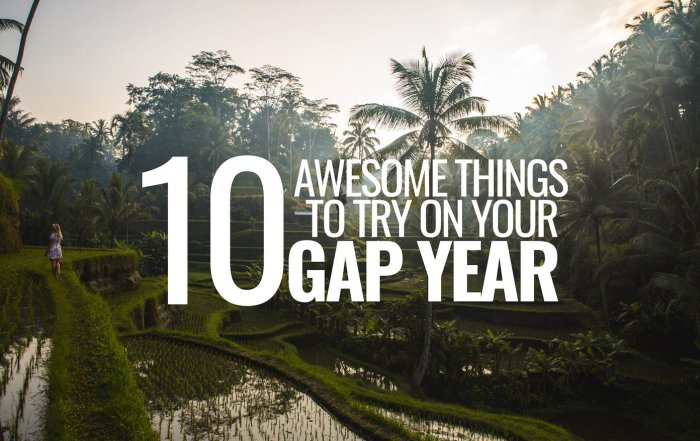 10 gap year ideas