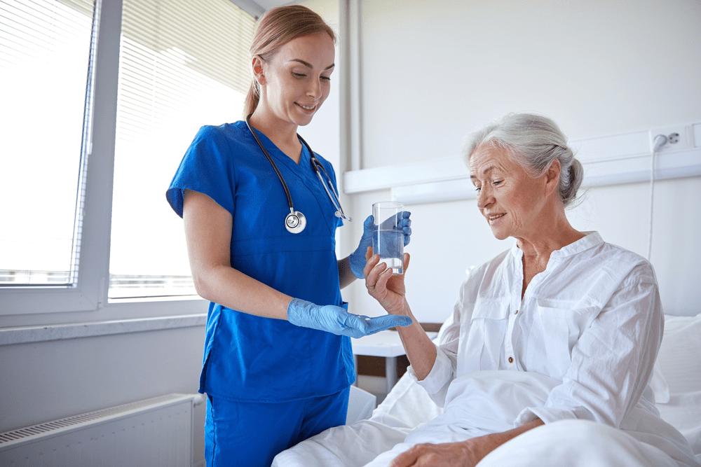 nurse giving medication