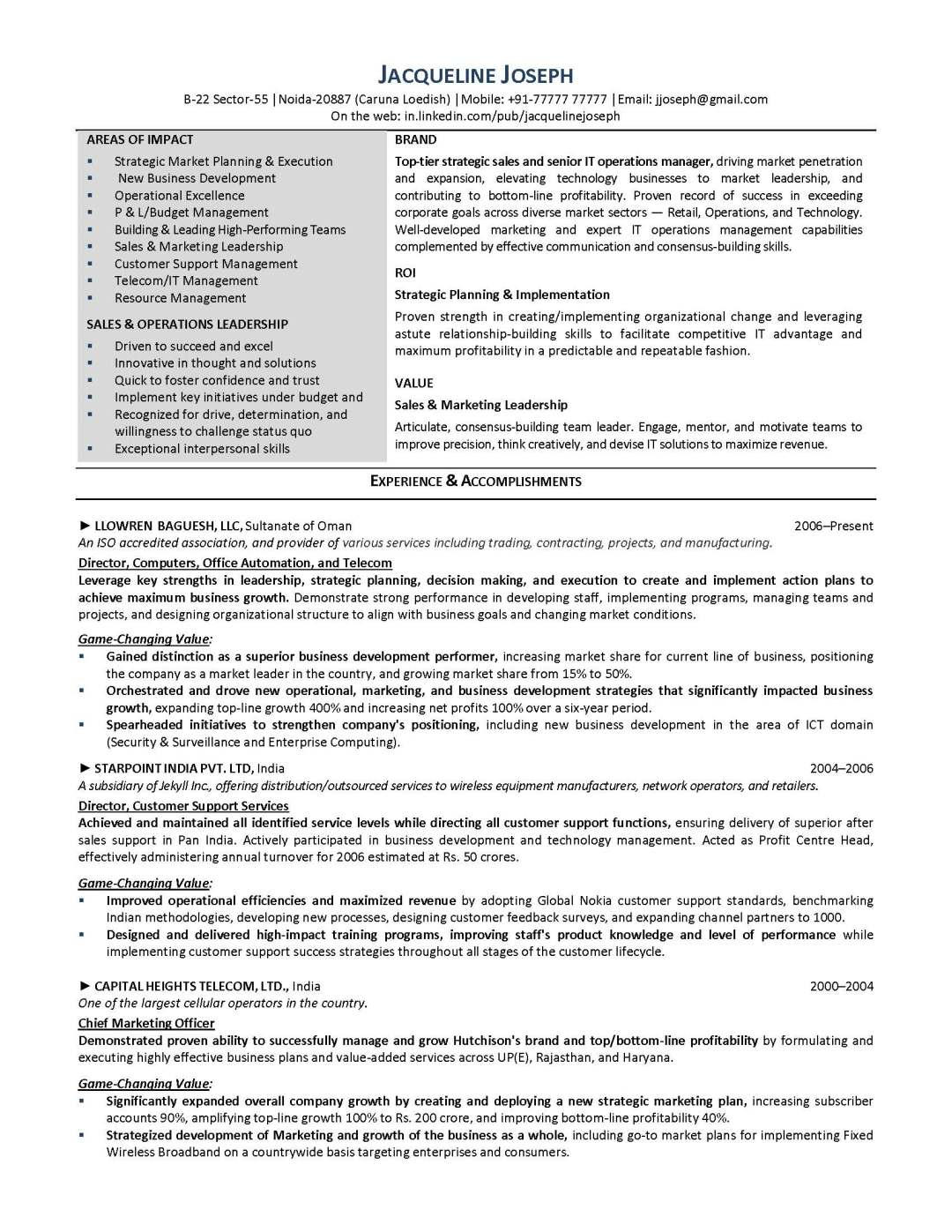 IT resume sample 1, provided by Elite Resume Writing Services