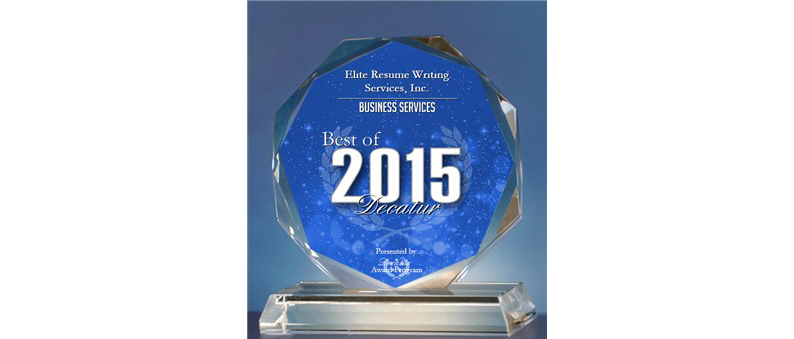 Elite Resume Writing Services, Inc. Receives 2015 Best of Decatur Award