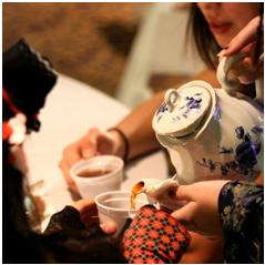 Traditional tea party in Japan