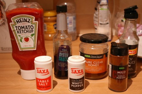 Sticky Barbecue sauce ingredients