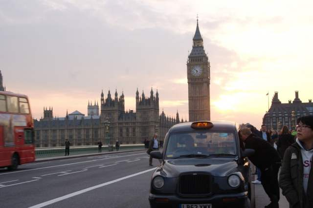 Big Ben, Black Cab and Big Red Bus