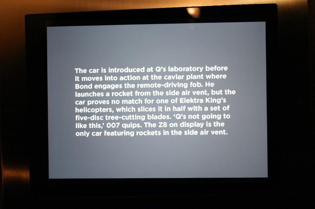 Bond in Motion car description