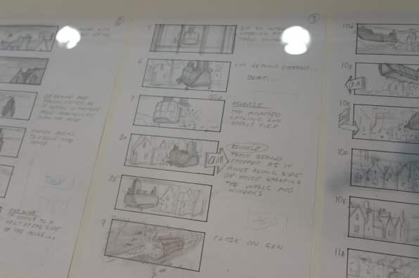Bond in Motion storyboard