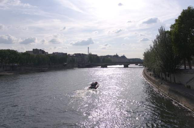 View from Pont des Arts bridge, Paris