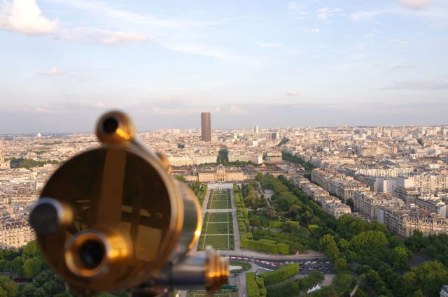 Champ de Mars from the Eiffel Tower