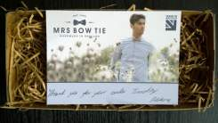 Mrs Bow Tie - thank you note