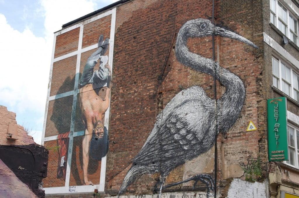 Stork by Roa – Hanbury Street