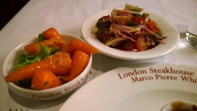 Panzella salad and seasonal vegetables