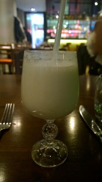 Sweet lassi natural yoghurt