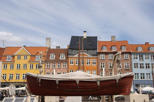 Hanging boat at Nyhavn, Copenhagen