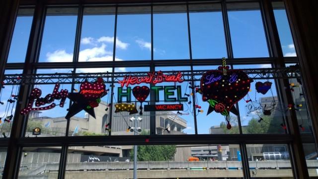Heartbreak hotel neon sign Chris Bracey