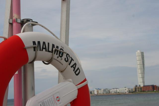 Lifebuoy and Turning Torso, Malmo