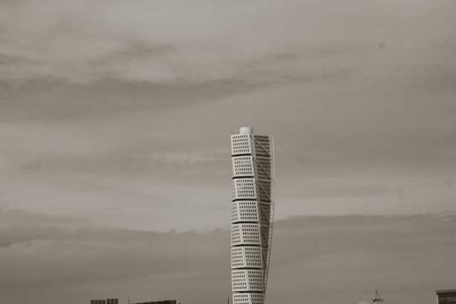 Turning Torso, Malmo black and white