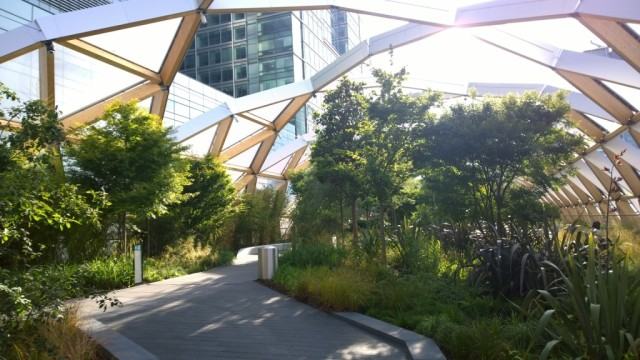Crossrail Place garden landscape