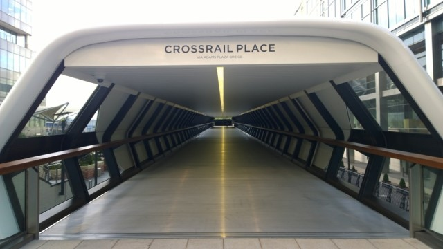 Entrace Crossrail Place garden