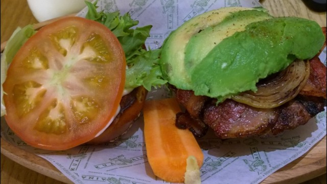 Kua'aina lava grilled burger review