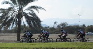 Fujairah Cyclists on the Corniche