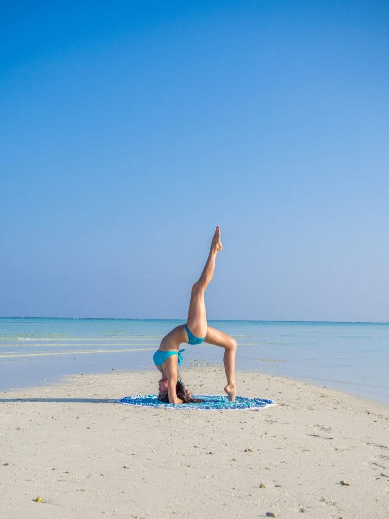 Isabel Leong Maldives Yoga