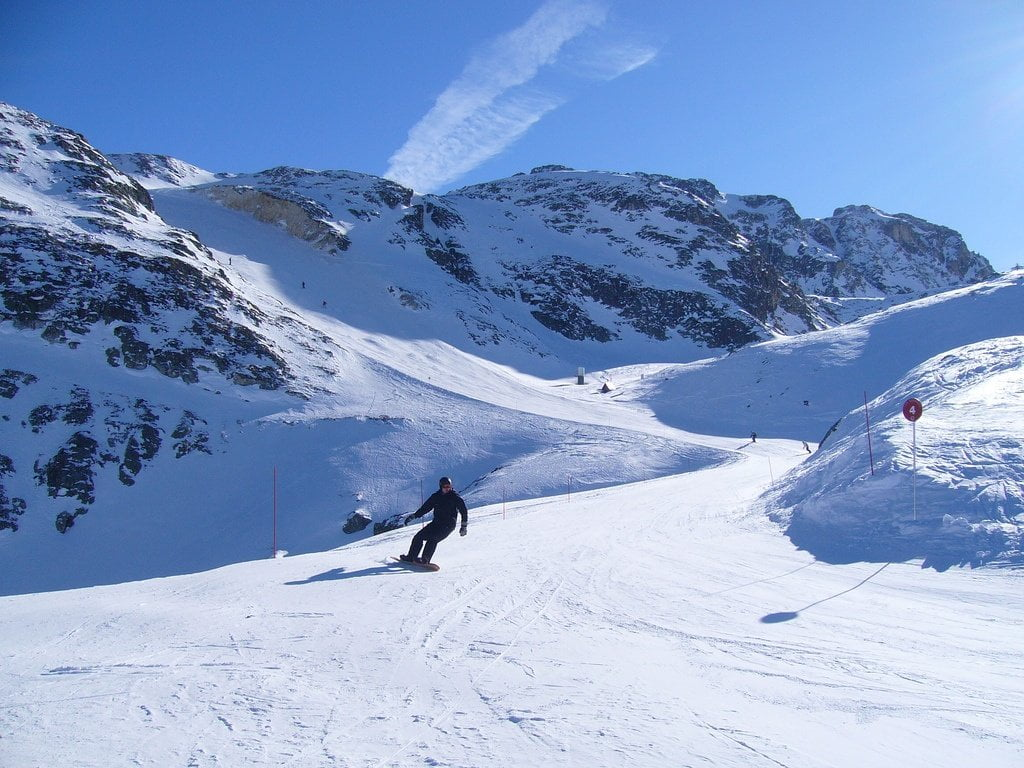 Skiing in La Plagne photo