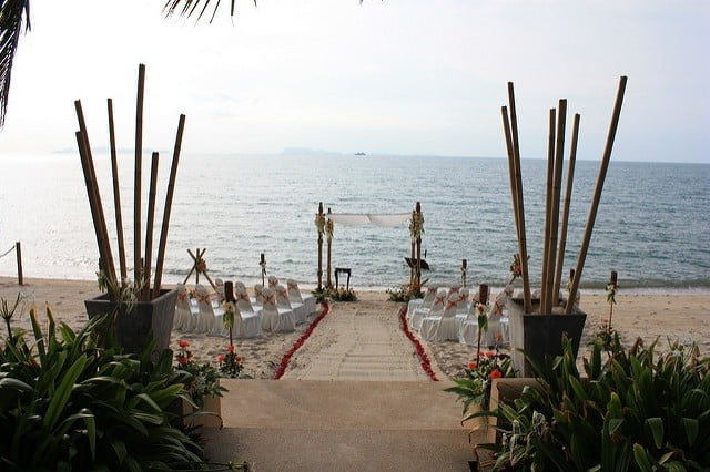 Beach wedding cover photo