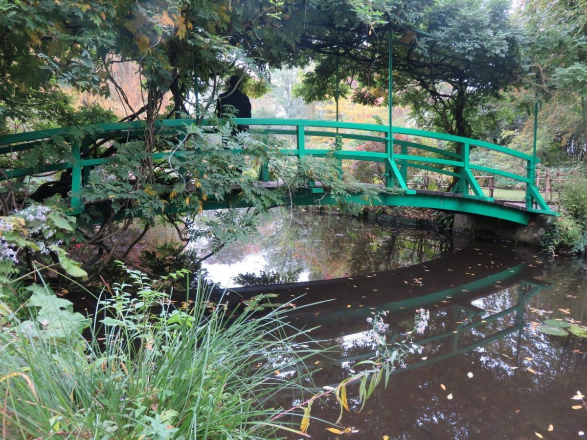 Photo of his Japanese bridge in Giverny