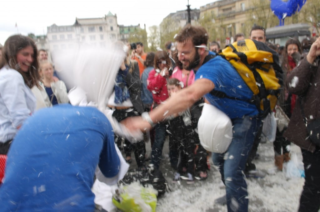 Photos: International Pillow Fight Day 2014, Trafalgar Square 12