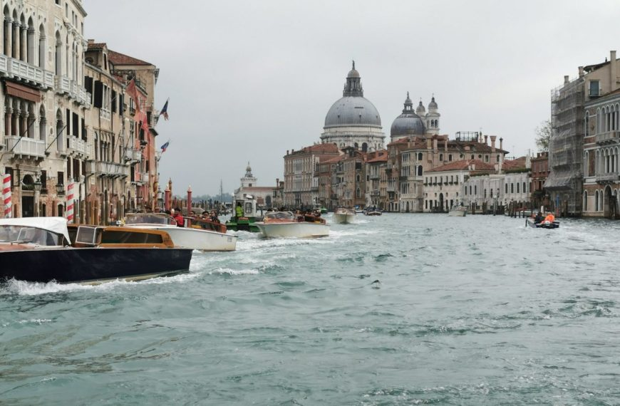 Grand Canal View of Venice From The Back Of A Vaporetto