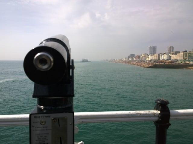 Brighton Pier, West Pier & A Viewfinder | Photos of Brighton Seaside