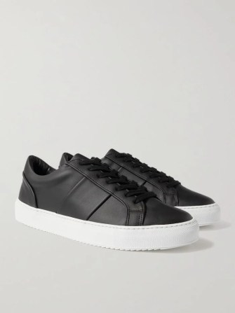 mr p eco larry sneakers in black and white