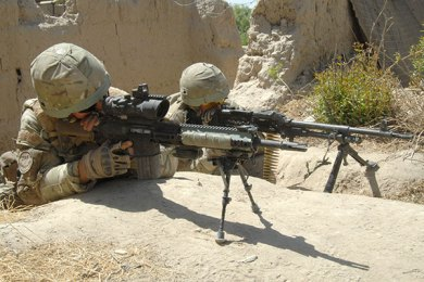 L129A1 employed by Royal Marines Commando