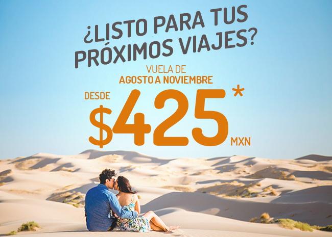 Vivaaerobus promoción de Agosto a Noviembre