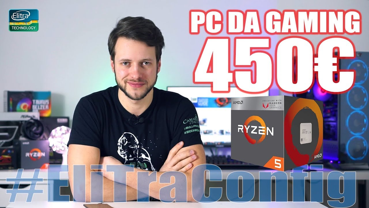 PC da GAMING 450€    Ryzen 5 2400G – Anti Miner